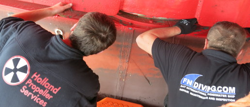 rudder seal repair